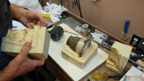 Take the Mold Apart, Remove the Model and Clean Up the Plaster.