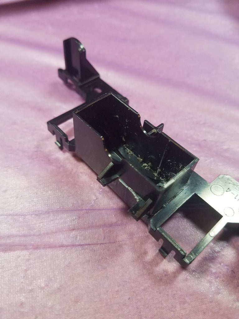 Break Off a Plastic Square for the Controller Connector