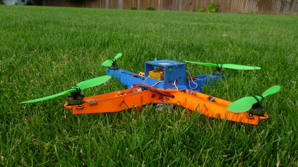 Laser Cut MultiWii Based Quadcopter