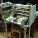 Reusing materials, recycling assemble a cheap workbench