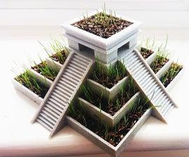 3D Printed Aztec Pyramid Plant Pot