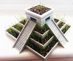 3D打印阿兹特克金字塔植物罐