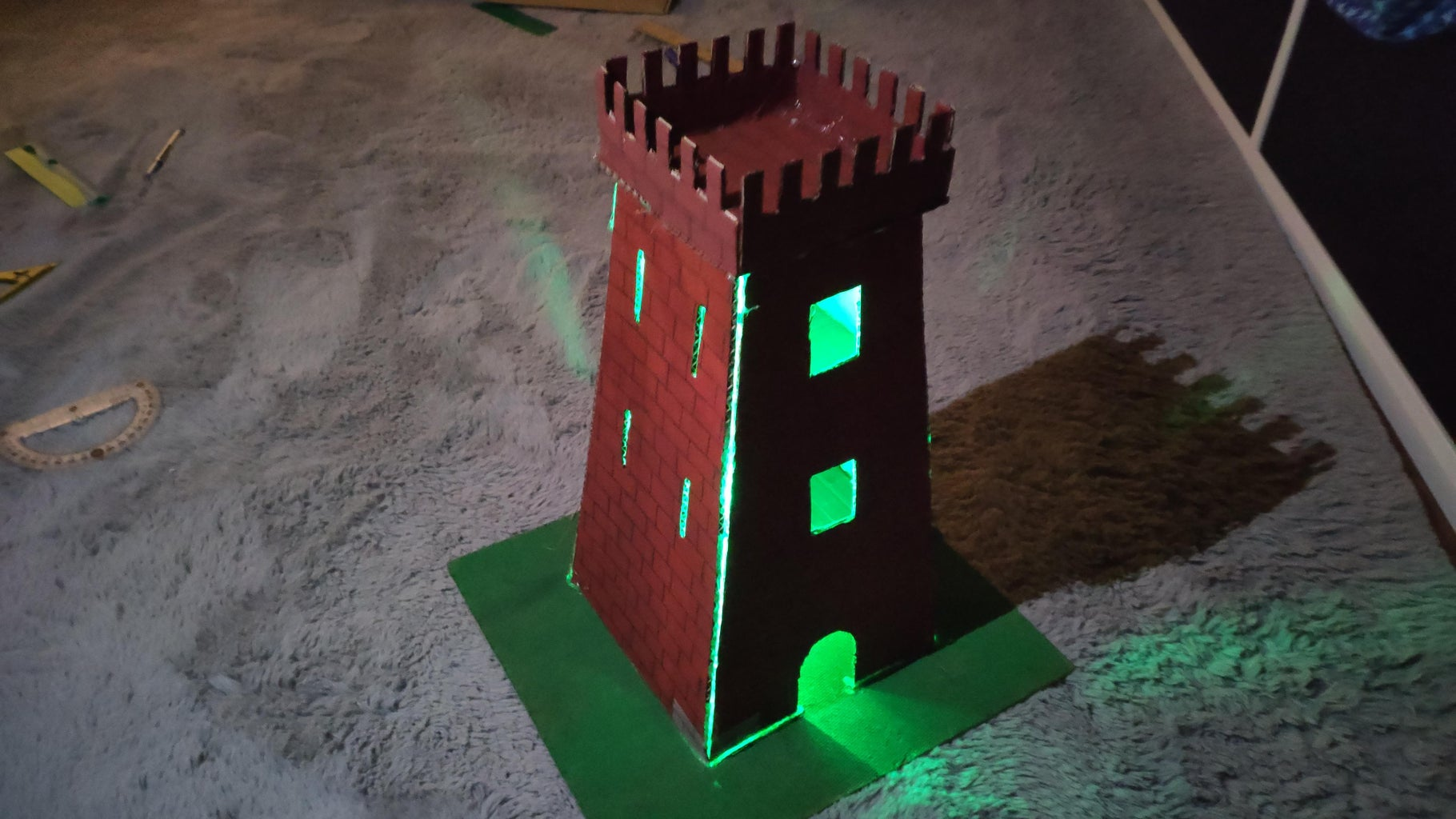 How to Make a Cardboard Castle Tower