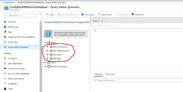Software - Create the SQL Tables