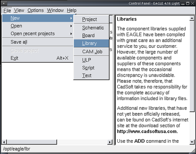 Select or Create a Library