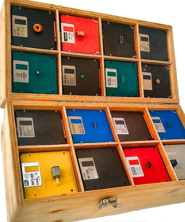 Upcycled Component Organiser