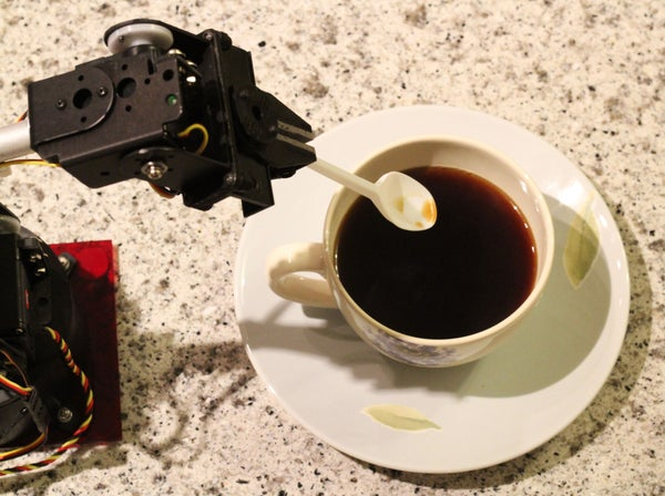 Robot Arm Making a Cup of Coffee