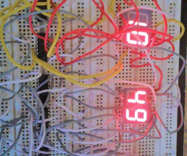 Digital Clock Using 4026 and 4060