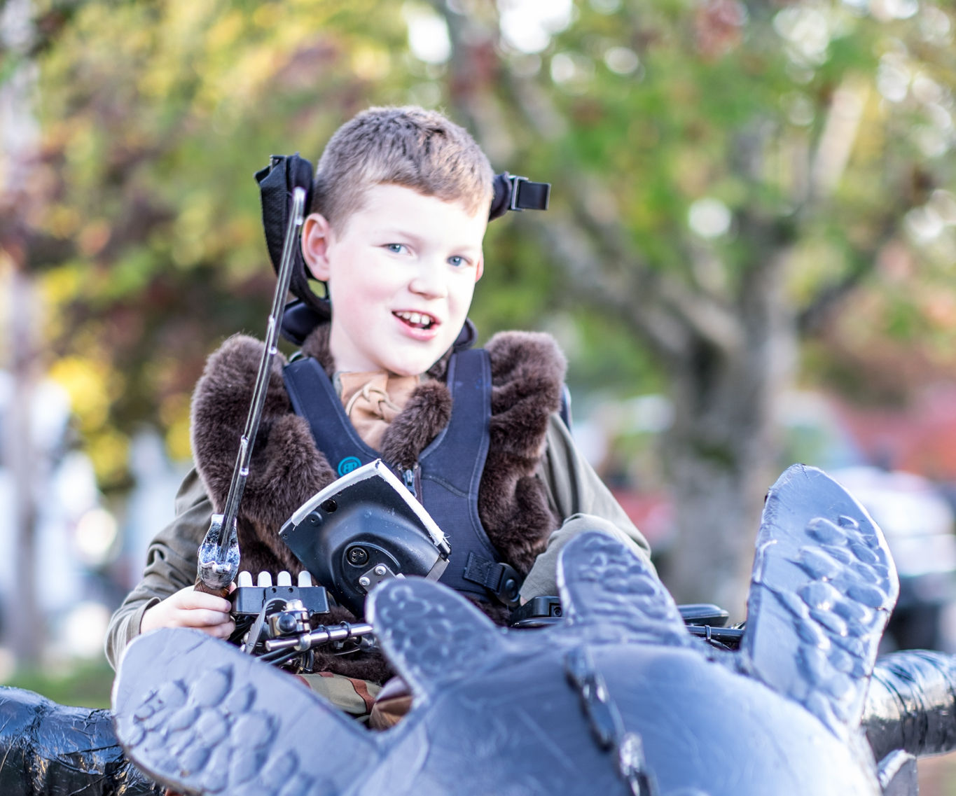 Wheelchair + Toothless = Epic Costume!