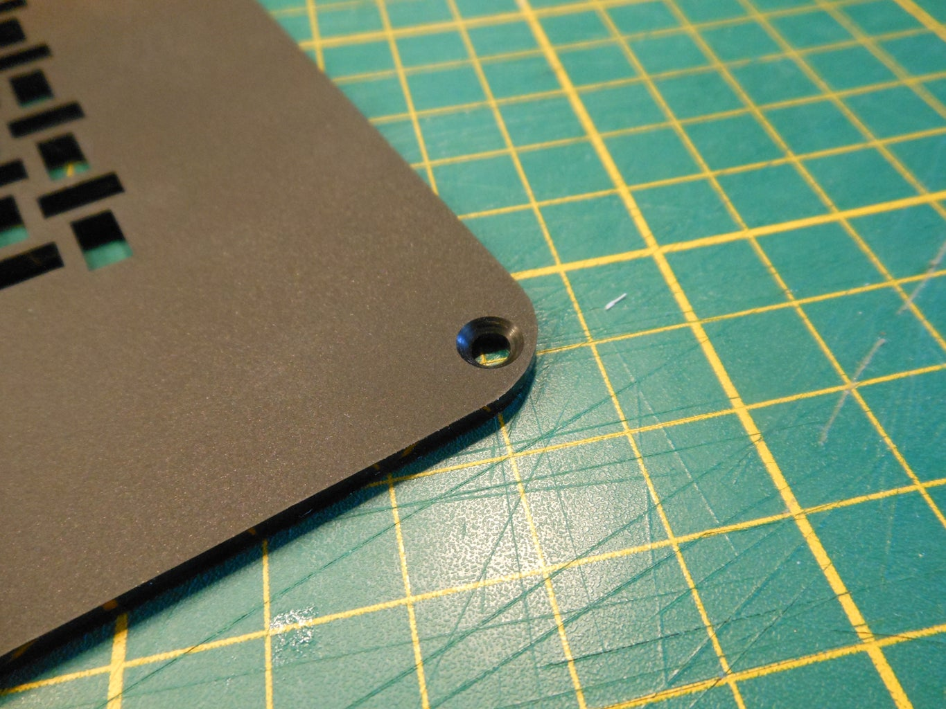 Countersinking the Side Panel Mounting Holes