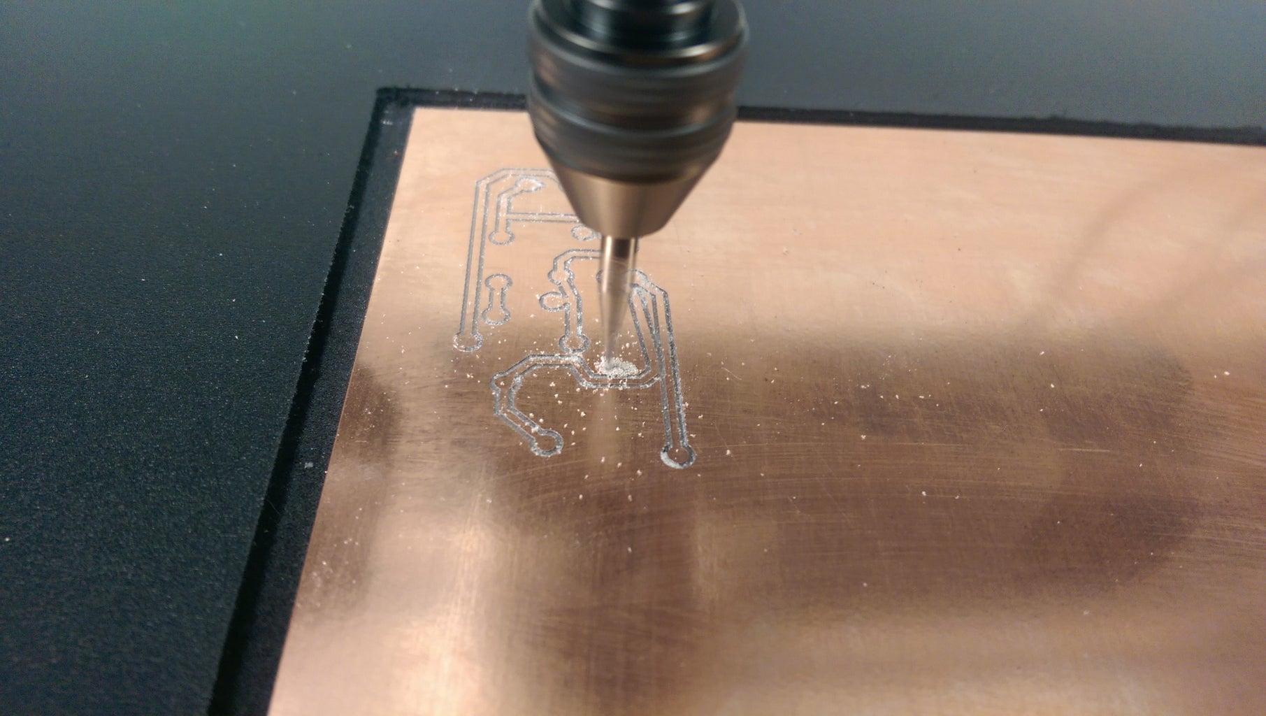 Begin Your PCB Isolation Track Milling!