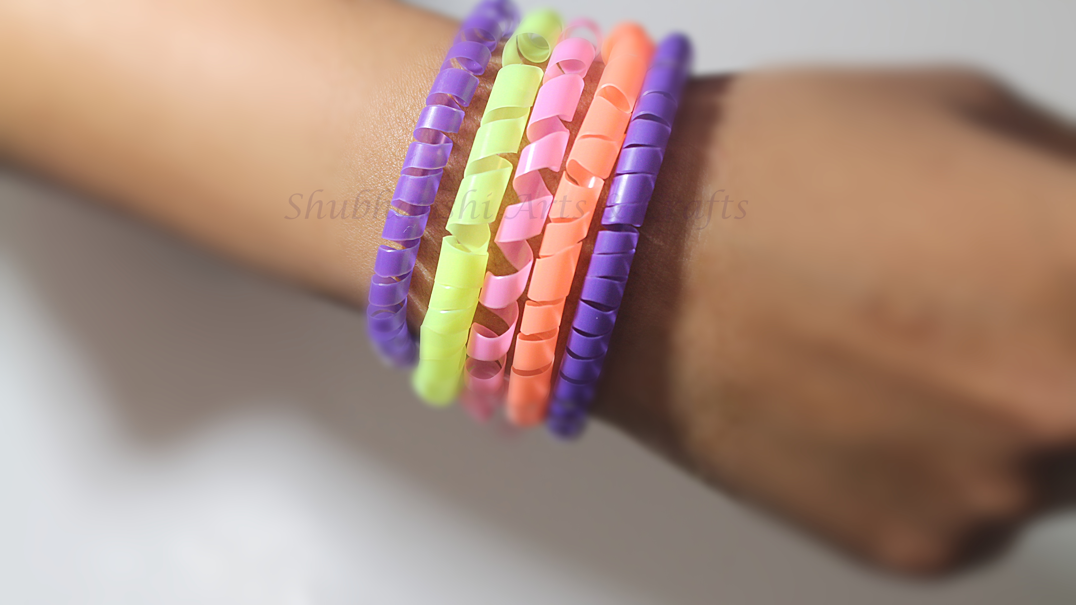 DIY Drinking Straw Bracelets