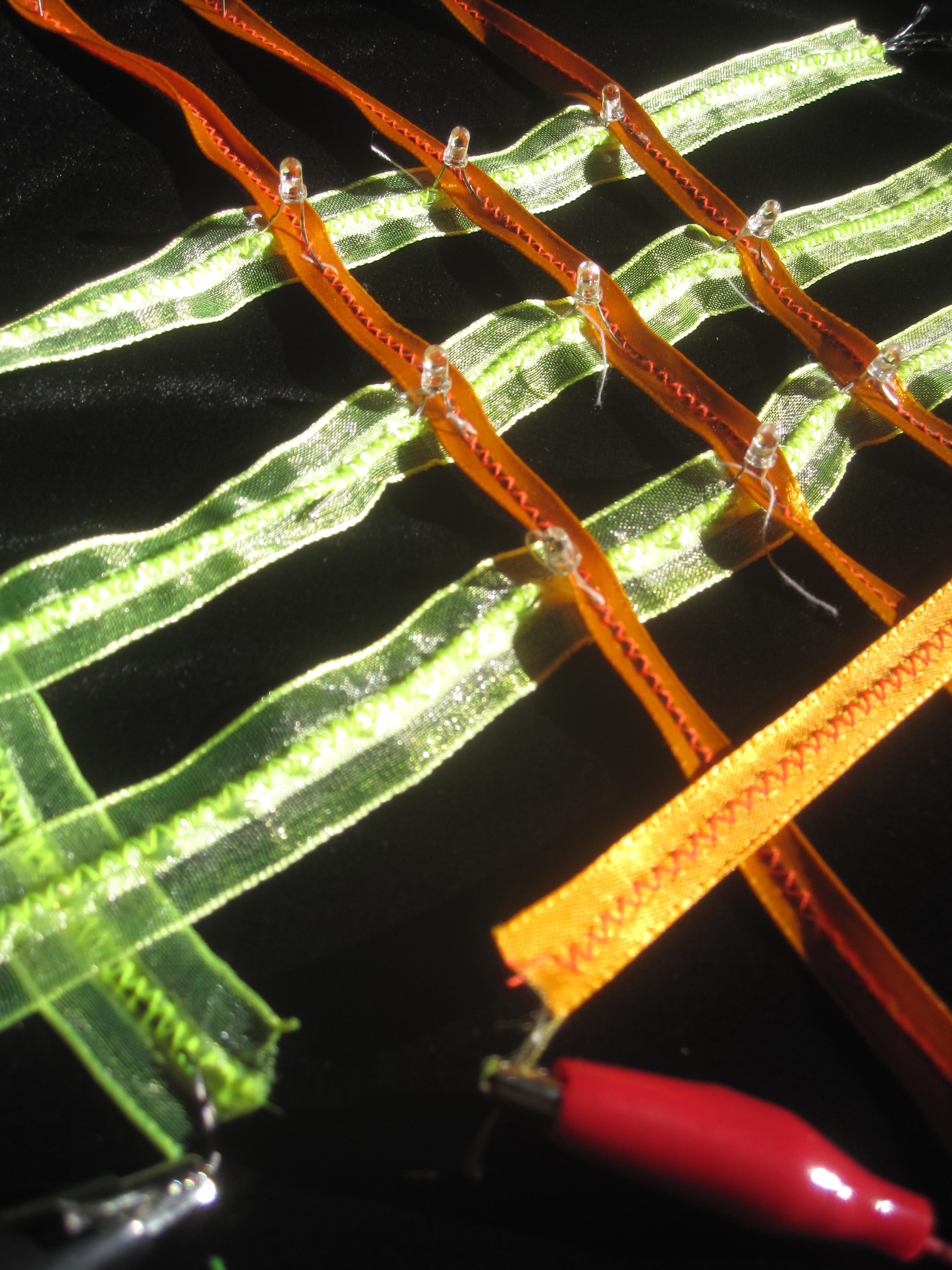 flexible LED eTextile ribbon array
