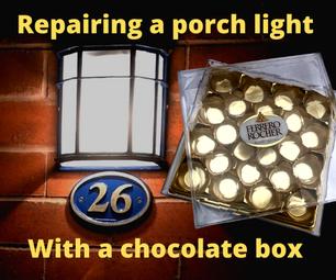 Porch Light Reglazing From a Chocolate Box.