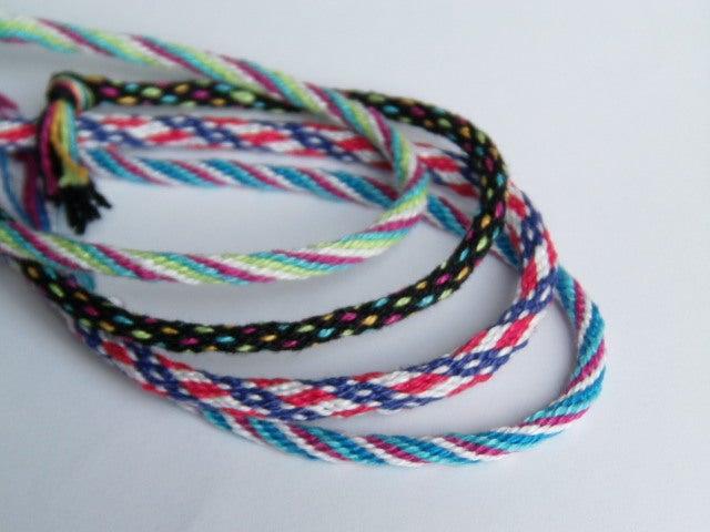 crisscross pattern woven bracelet Red Friendship Bracelet Pair knotted bracelet