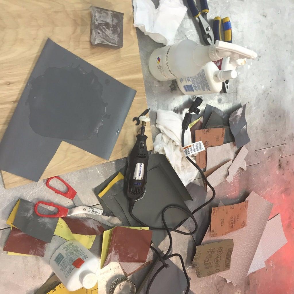 Testing + Sanding
