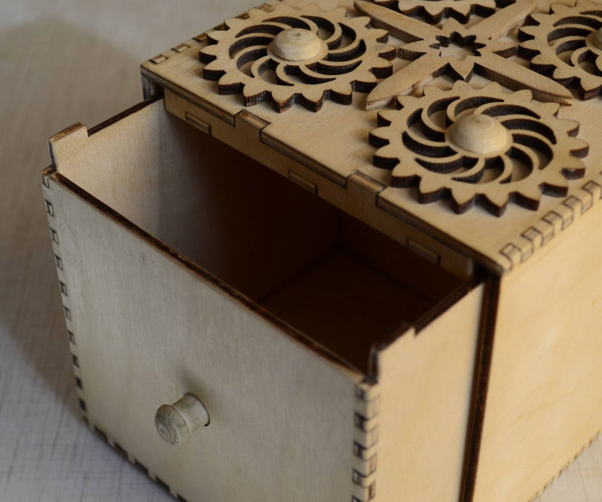 Candy Vault - wood box with secret mechanical lock