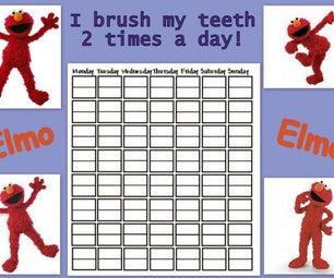Elmo Tooth Brushing Sticker Reward Chart