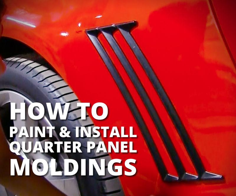 Paint & Install Quarter Panel Moldings - Stormtrooper Camaro Fan Build