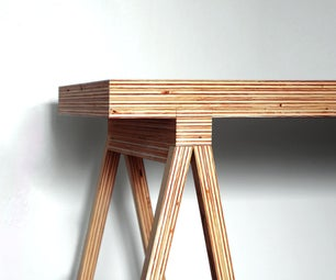 DIY Modern Plywood Desk