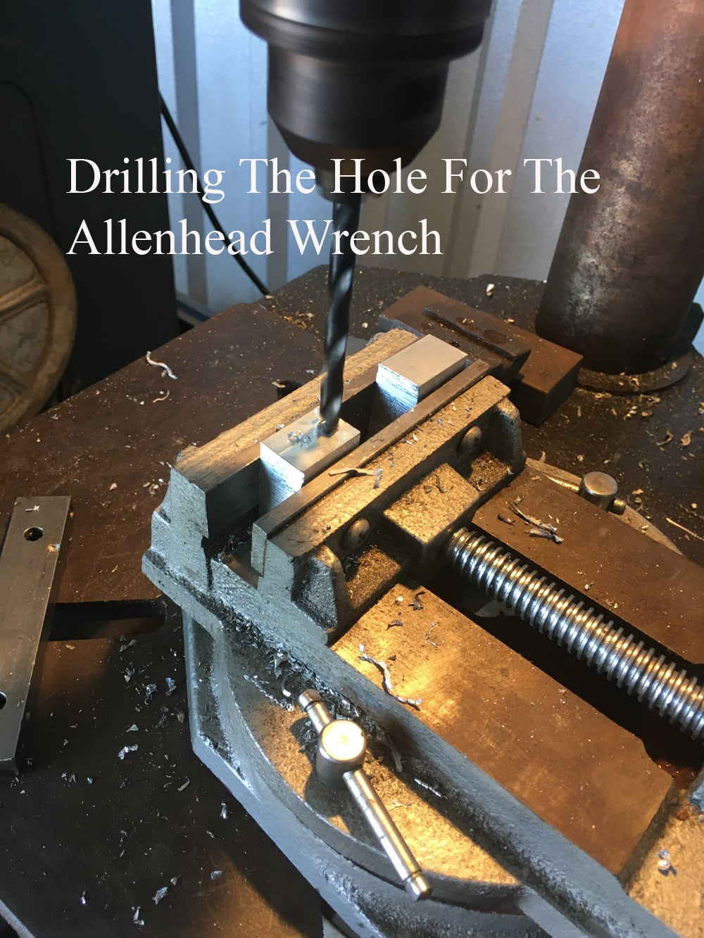 Drilling the Holes in the Tool Holder