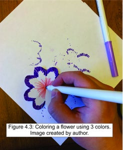Color Your Newly Created Flowers.