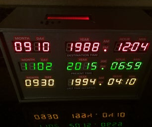 3D Printed Back to the Future TIme Circuit Clock
