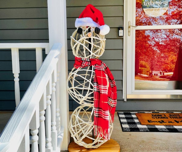 How to Make Cement Snowman - Fun Holiday DIY!