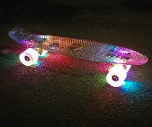DIY  -  WiFi控制RGB有启发滑板