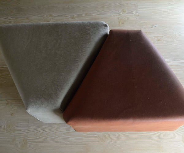 Twin Poufs From Pringles Boxes