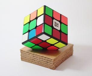 Easy, Yet Stylish Cardboard Rubiks Cube Stand.