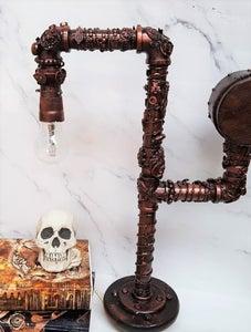 Mixed Media Steampunk Lamp
