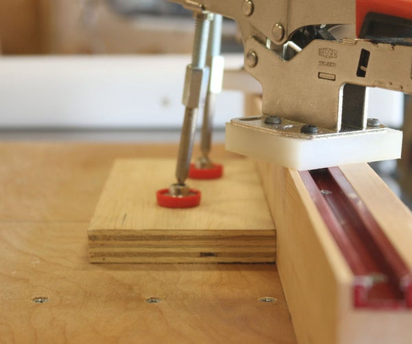 Table Saw Sled (w/ Toggle Clamps)