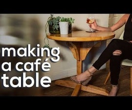 Modern Cafe Table - Small Round Table