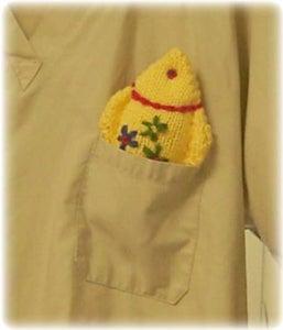 Here He Is Peeking From a Pocket!