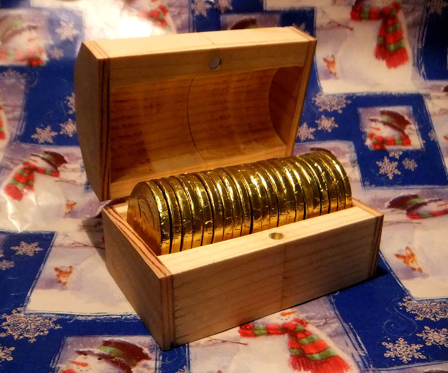 Quick & Easy Chocalate Coin Treasure Chest