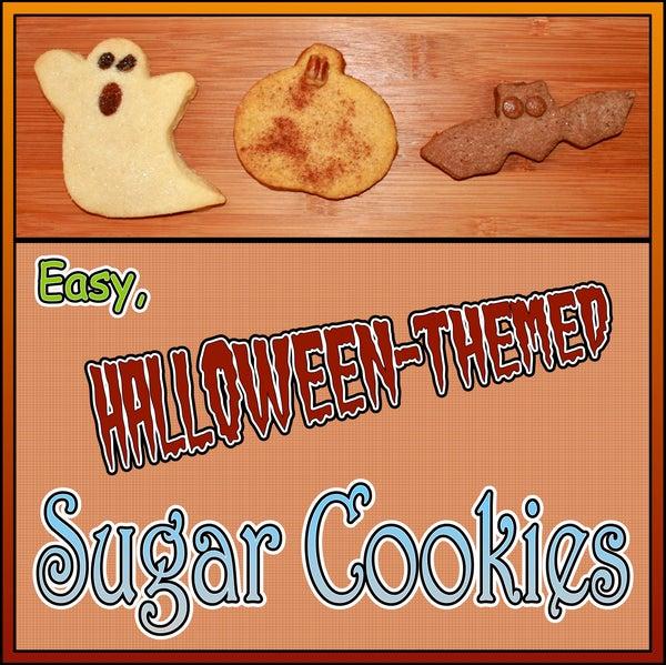 Easy Halloween-Themed Sugar Cookies
