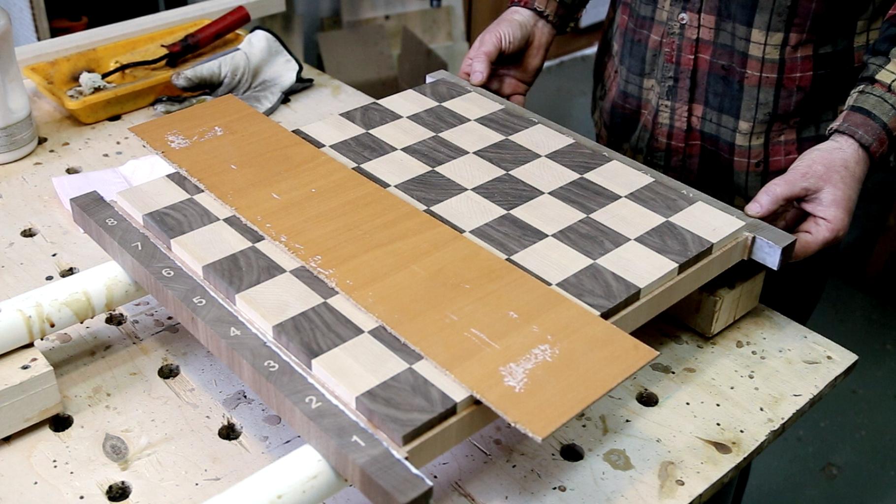 Gluing a Chessboard