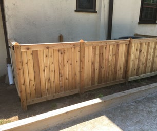DIY Fence With Removable Sections