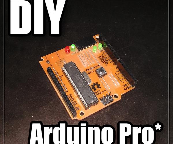 Minimal Arduino UNO (a.k.a. Arduino Pro)