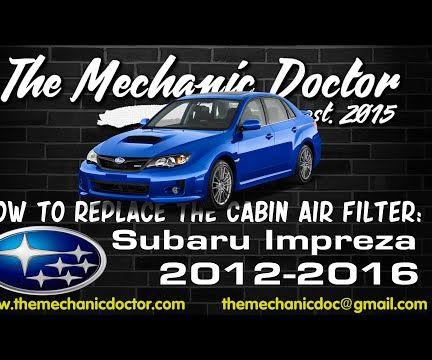 How to replace the cabin air filter : Subaru Impreza 2012-2016