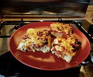 Upside Down Spam Pizza / Pizza Scone Weirdness