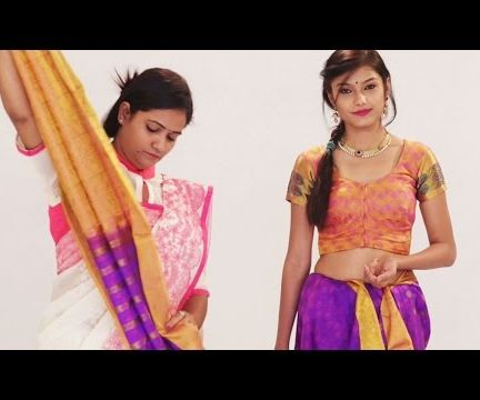 How To Wear South Indian Wedding Silk Saree with Thin Pleats Perfectly to Look Slim & Beautiful - Step by Step Tutorial