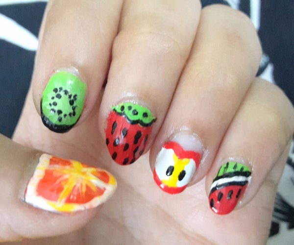 DIY Fruit Nail Designs