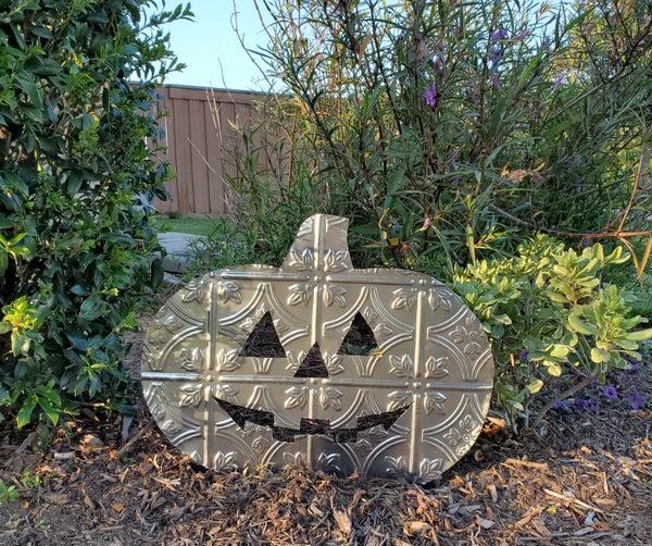 Sheet Metal Pumpkin Yard Decoration