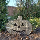 Sheet Metal Pumpkin Yard Decoration