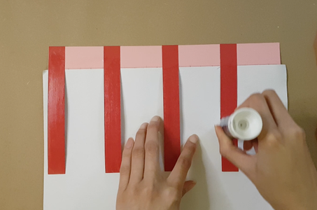 Cut Out and Glue the Tissue Paper