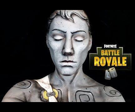 Fortnite Statue Halloween Makeup