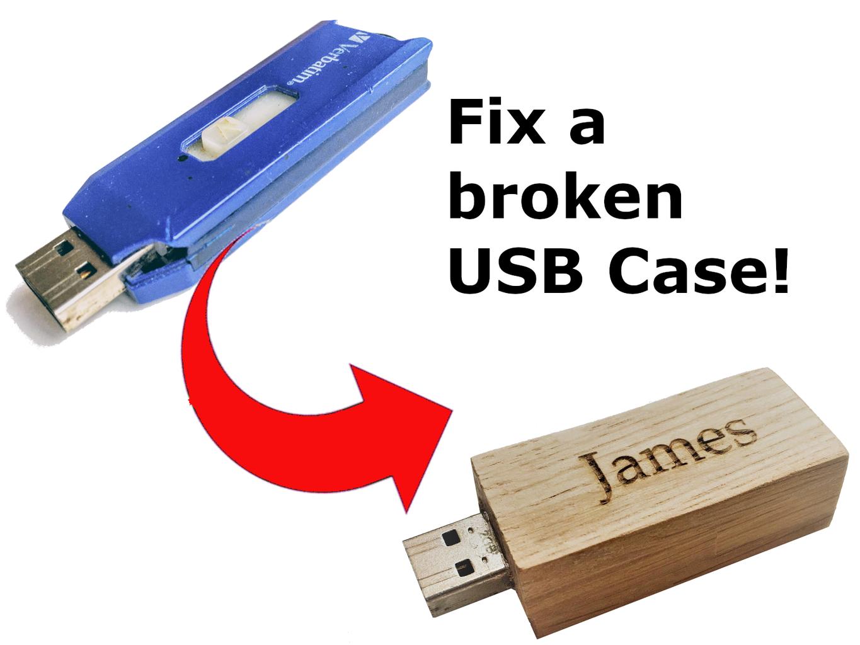 Fix a Damaged USB Memory Stick Case