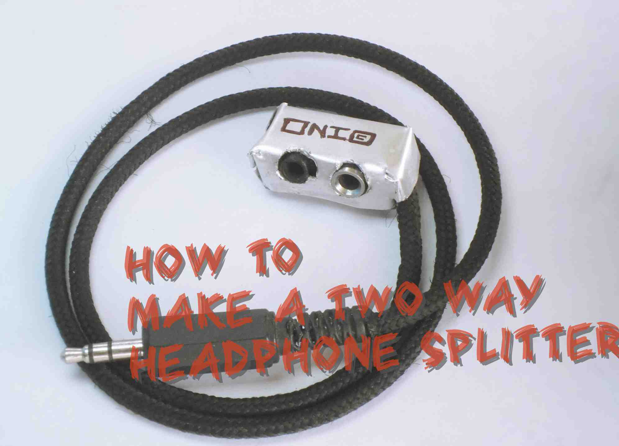 How to make a two way headphone splliter!